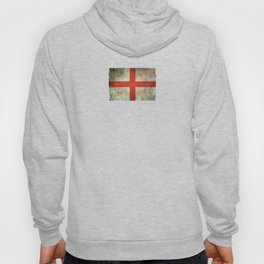 Old and Worn Distressed Vintage Flag of England Hoody