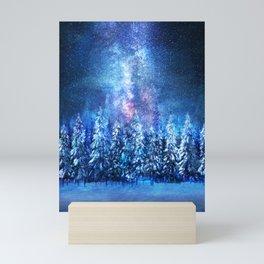 Forest under the Starlight Mini Art Print
