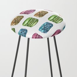 Colorful Macaroon Variety Counter Stool