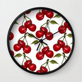 Watercolor cherry Wall Clock