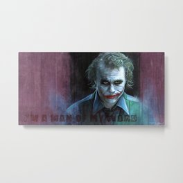 Heath Ledger (the joker) Metal Print