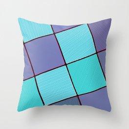 Purple and Aqua Throw Pillow