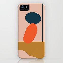 Abstract #1 Orange Blue Beige iPhone Case