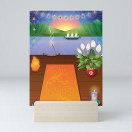 Yoga Sunset Mini Art Print