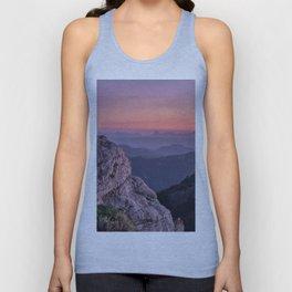 Misty Mountains At Sunset. Sierra Nevada Unisex Tank Top