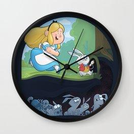 Alice in Troubleland Wall Clock