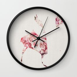 Flowery Woman Silhouette Wall Clock