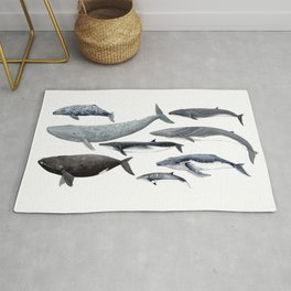 Whales and right whale Rug
