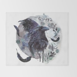 Full Moon Fever Dreams Of Velvet Ravens Throw Blanket