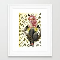 font Framed Art Prints featuring FONT by Julia Lillard Art