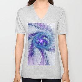 Swirl, Abstract Fractal Art Unisex V-Neck