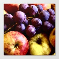 fruits Canvas Prints featuring FRUITS by MehrFarbeimLeben