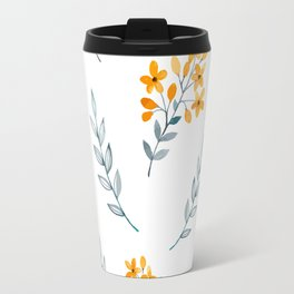 Yellow Flower Obsession Travel Mug