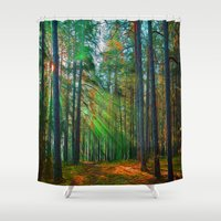 breaking Shower Curtains featuring Breaking Through by Robin Curtiss
