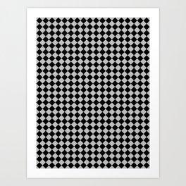 Black and Gray Diamonds Art Print