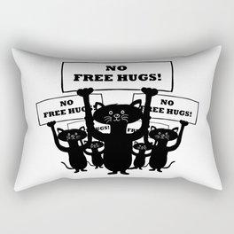 Cats Protest Rectangular Pillow