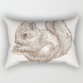 Pizza for All (Including Squirrels) Rectangular Pillow