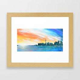 Toronto Sunset Framed Art Print