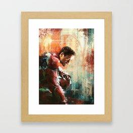The man of Iron Framed Art Print