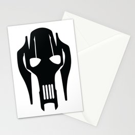 General Grievous Face Silhouette Stationery Cards