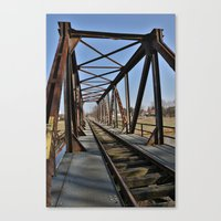 bridge Canvas Prints featuring Bridge by Falko Follert Art-FF77