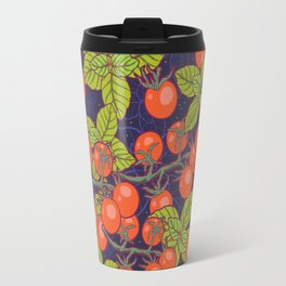 mysterious night in space garden with cherry tomatoes and basil Travel Mug