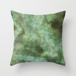 stained fantasy mossy Throw Pillow