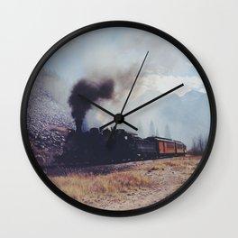 Mountain Train Wall Clock