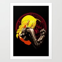 fullmetal alchemist Art Prints featuring YELLOW HAIR ALCHEMIST by BradixArt