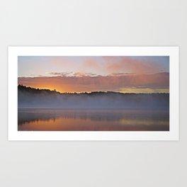 Sunrise on a Still Lake Art Print