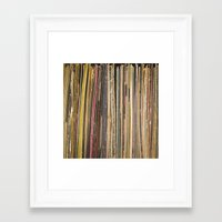 records Framed Art Prints featuring Records by Cassia Beck
