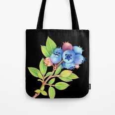 Wild Maine Blueberries Tote Bag