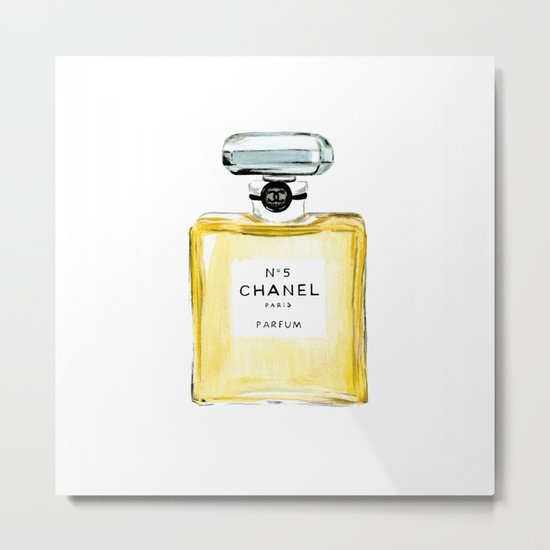 Yellow Parfum Metal Print