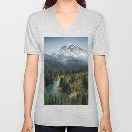 Mountain, Scenic, Rainier, Eunice Lake, National Park, Parks 2016 Unisex V-Neck