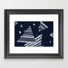 Pattern Doodle Two (Invert) Framed Art Print