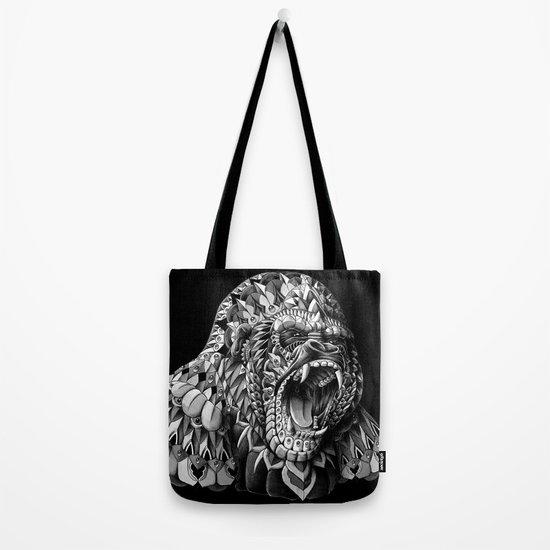 gorilla tote bag by bioworkz society6