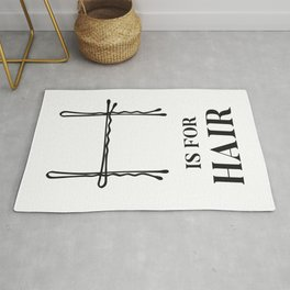 Hair Salon Quote H is For Hair Fashion Bobby Pins  Rug