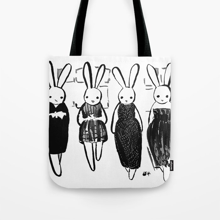 Couture Bunnies Tote Bag
