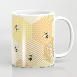 Patchwork Bees Pattern Coffee Mug