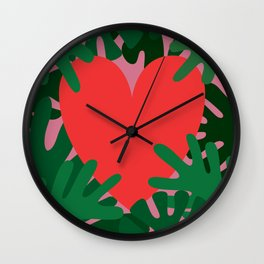 Wild Does My Love Grow Wall Clock