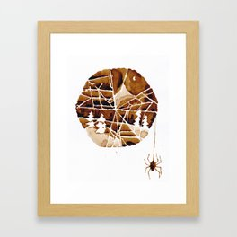 the mountain and the spider Framed Art Print