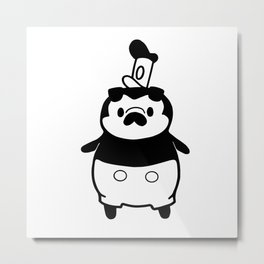 Steamboat Puggie Metal Print