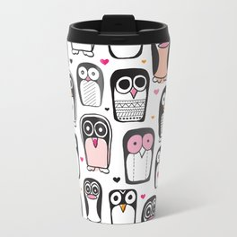 Adorable little penguin illustration pattern Travel Mug