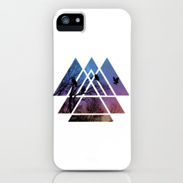 Night Wisdom - Sacred Geometry Triangels iPhone Case