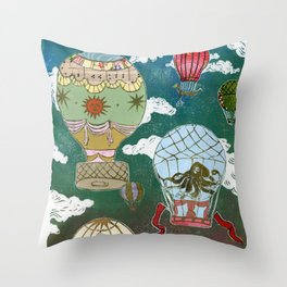 Hot Air Balloons I Throw Pillow