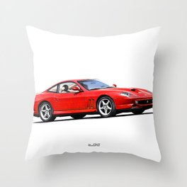 LINE OF THE MARANELLO CAR IN RED Throw Pillow