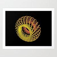 29D (N) : Neon - Circle Art Print