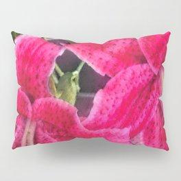 Pink Lilies Pillow Sham