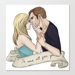 Klaus and Caroline Canvas Print
