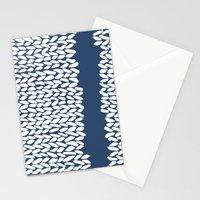 Missing Knit Navy Stationery Cards